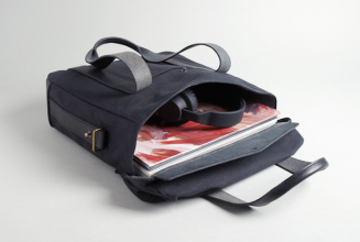 Art and music label Ghostly International fashion deluxe record bag with designer RPMFG
