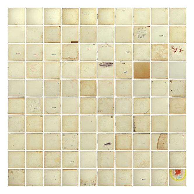 Artist Layers 100 Unique Copies Of The Beatles White
