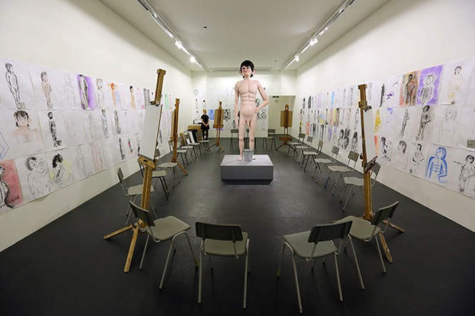 Pictured is 'Life Model 2012' by David Shrigley.