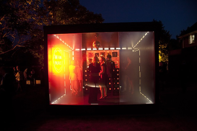 The Box at night at 'The Vinyl Factory Touring Laboratory of Sounds', Serpentine Summer Party - Credit Marco Walker
