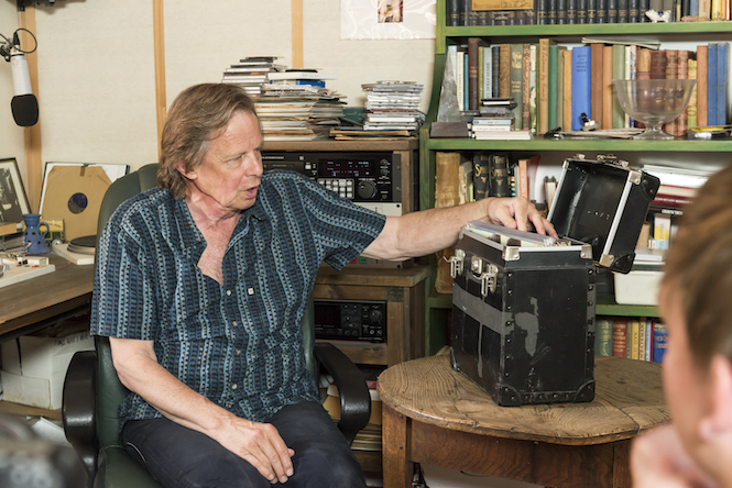 Joe Boyd in John's Studio with his box