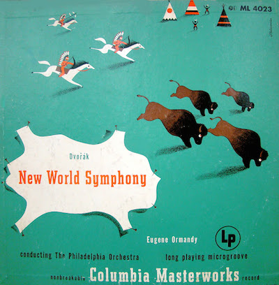 1940 Dvorák -New World Symphony- [Columbia Masterworks catalogue no. ML 4023] signed Steinweiss