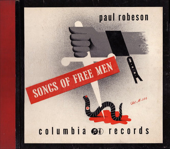 1941 Paul Robeson -Songs of Free Men- [Columbia Records catalogue no. M-534] signed Steinweiss