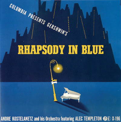 1941 -Rhapsody in Blue- [Columbia Records catalogue no. X-196] signed Steinweiss