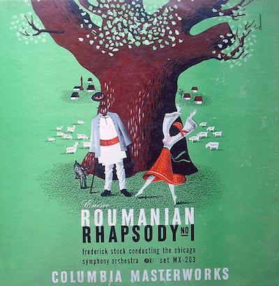 1942 Enesco -Roumanian Rhapsody No. 1- [Columbia Masterworks catalogue no. MX-203] signed Steinweiss