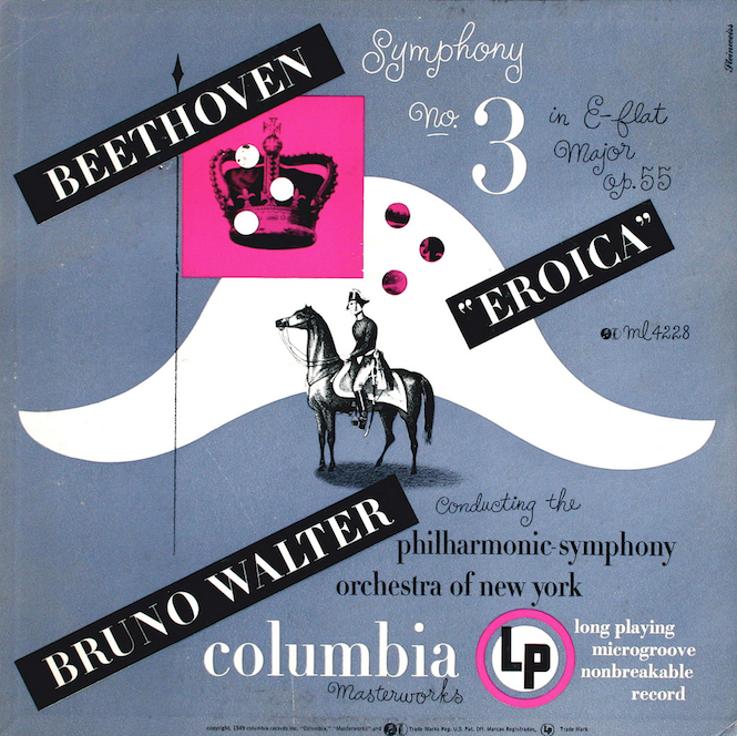 1949 Beethoven -Symphony No. 3 in e Flat Major opus 55 (Eroica)- [Columbia Masterworks catalogue no. ML-4228] signed Steinweiss