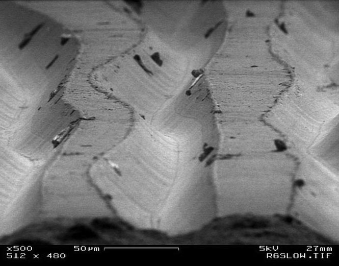 Incredible Photos Of Record Grooves Under An Electron