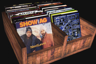 Dig through virtual crates of classic hip hop vinyl