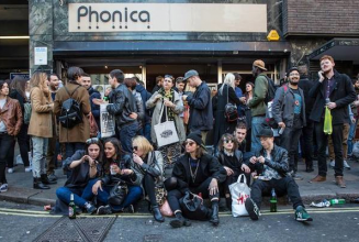 These foolhardy souls are already queuing for Record Store Day
