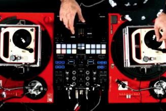 Watch DJ Nu-Mark drop a killer mix on 3″ turntables