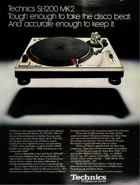 technics advert