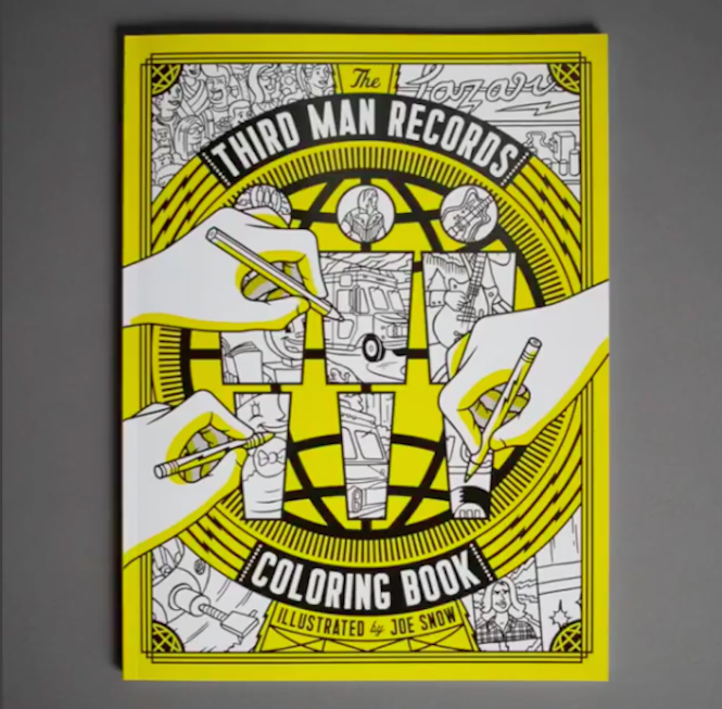 Third man records unveils vinyl themed colouring book Coloring book record