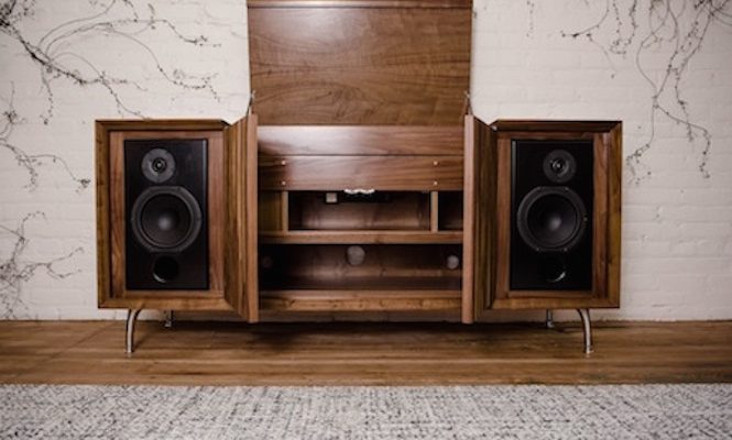 This Stunning New Record Player Console Boasts Bluetooth