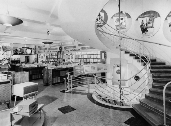 Classical-Records-Department-and-Spiral-Staircase-at-HMV-London-Shop